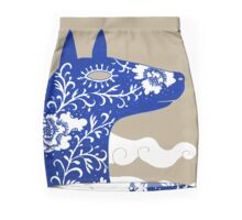 The Water Horse in Blue and White Mini Skirt