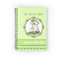 Lime Retro Recipe Book Spiral Notebook