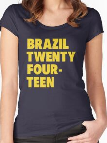 Team Brazil for the World Cup 2014 Women's Fitted Scoop T-Shirt