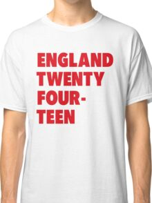 Team England for the World Cup 2014 Classic T-Shirt