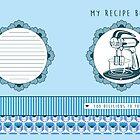 Blueberry Retro Recipe Book by Tracey Quick