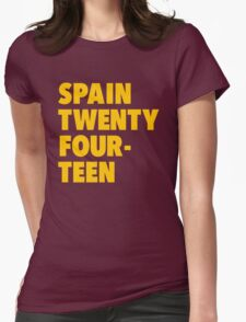 Team Spain for the World Cup 2014 Womens Fitted T-Shirt