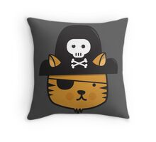 Pirate Cat - Jumpy Icon Series Throw Pillow