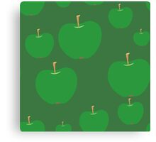 vector seamless pattern with green apples Canvas Print