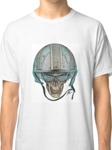 Undead Biker Skull Zombie with Glasses Classic T-Shirt
