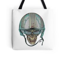 Undead Biker Skull Zombie with Glasses Tote Bag