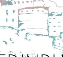 Pastel Edinburgh Castle Sticker