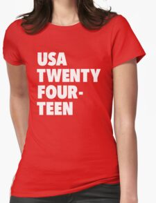 Team America for the World Cup 2014 Womens Fitted T-Shirt