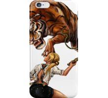 Comic Hero Malarky Jane Fights Attacking Tiger! iPhone Case/Skin