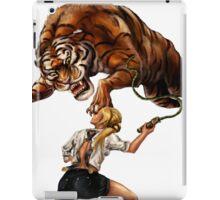 Comic Hero Malarky Jane Fights Attacking Tiger! iPad Case/Skin