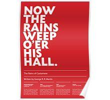 Rains of Castamere poster Poster