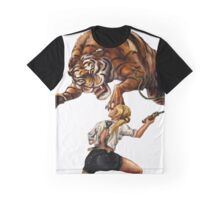 Comic Hero Malarky Jane Fights Attacking Tiger! Graphic T-Shirt