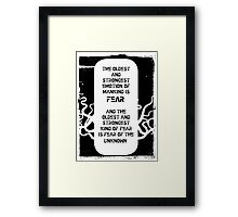 Lovecraft Framed Print