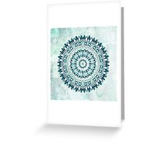Deep Lagoon Mandala  Greeting Card
