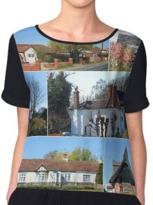 Cottages Collage Chiffon Top
