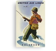 United Air Lines Colorado Vintage Travel Poster Canvas Print