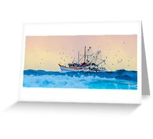 Fishing Trawler at Honeymoon Bay, Moreton Island, Australia Greeting Card
