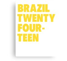 Team Brazil for the World Cup 2014 Canvas Print