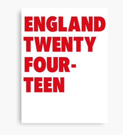 Team England for the World Cup 2014 Canvas Print