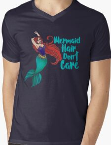 Mermaid Hair Don't Care Mens V-Neck T-Shirt