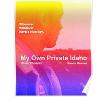 my own private idaho - sunset Poster