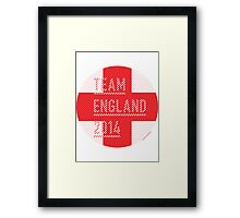 Team England for the World Cup 2014 Framed Print