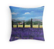 On the way to Roussillon Throw Pillow