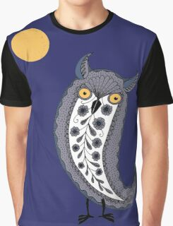 Paisley Owl Graphic T-Shirt