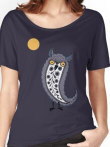 Paisley Owl Women's Relaxed Fit T-Shirt