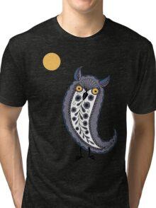 Paisley Owl Tri-blend T-Shirt
