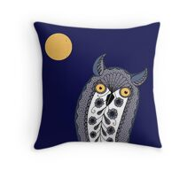 Paisley Owl Throw Pillow