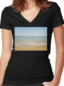Beach Days Women's Fitted V-Neck T-Shirt