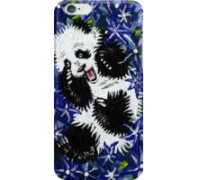 Playful Cub in Blue iPhone Case/Skin