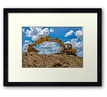 heavy equipment Framed Print