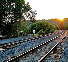 Sunset Tracks  by atimeplagiarist