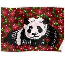 Panda Resting in Red Poster