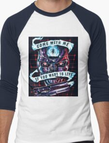 come with me if you want to lift - arnold Men's Baseball ¾ T-Shirt