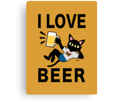I love beer Canvas Print