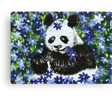 Panda Bear in Blue Canvas Print