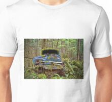 Abandoned Car in the Forest Unisex T-Shirt