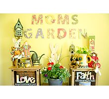 Moms Garden  Photographic Print