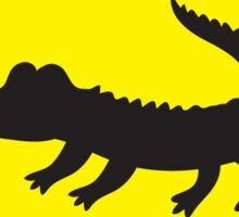 Crocodile YELLOW WARNING sign Alligator Sticker