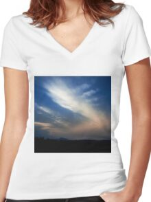 NEPHELAE - NYMPHS OF THE CLOUDS Women's Fitted V-Neck T-Shirt