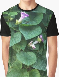 Wild Morning Glories Graphic T-Shirt