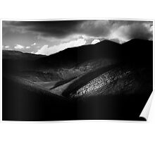 Mountains of Argentina - Monochrome Poster
