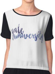 Yale University Chiffon Top