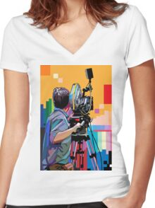 Director of photograph Women's Fitted V-Neck T-Shirt