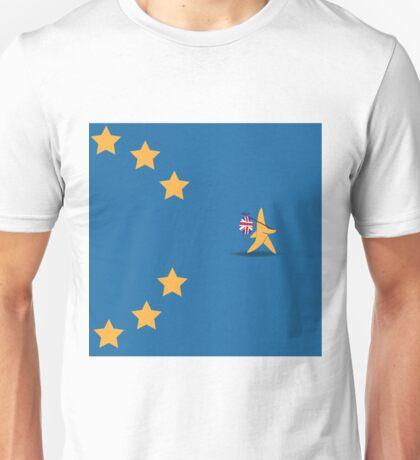 Brexit star walking off EU flag Unisex T-Shirt
