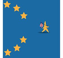 Brexit star walking off EU flag Photographic Print