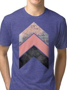Scandinavian Chevrons in Peach Echo Tri-blend T-Shirt